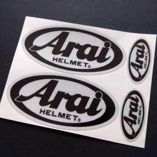 Arai Helmet Reflective Sticker Set 4pcs