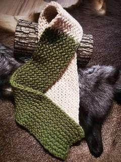 Pure Wool Winter Scarf (Forest)