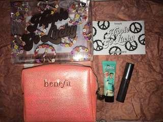 Benefit set : pouch benefit, they're real 3gr, porefessional 7.5ml