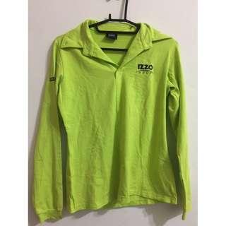 🚚 IZZO 螢光黃綠高爾夫運動衫
