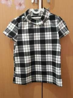Blouse Houndstooth Uptown Girl