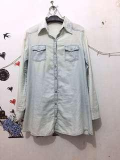 Tunik denim size L