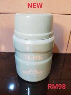 Thermos Light Blue with Spoon