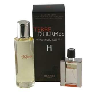 Terre D'Hermes Men's 2-piece Travel Fragrance Set