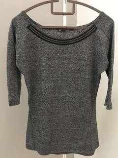 Bershka grey top