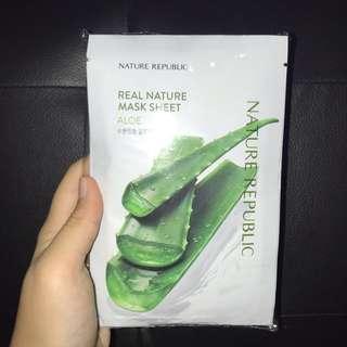 Nature Republic Face Mask Aloe [10 pcs]