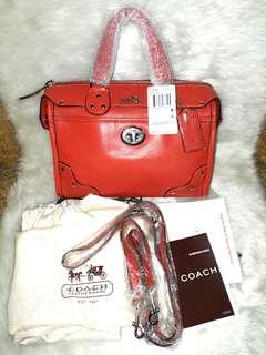 AUTHENTIC COACH CRACKLE LEATHER RHYDER 24