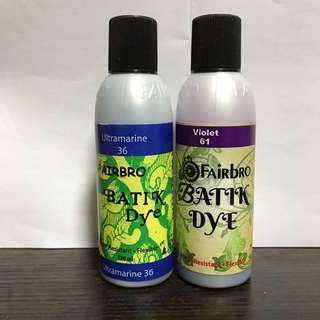 Fairbro Batik Dye 120ml Ultramarine and Violet