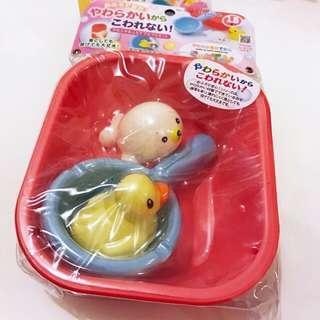 日本SofToy洗白白,沙灘玩具4件裝