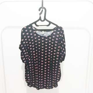 Love pattern tee - navy