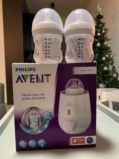 Avent Bottle Warmer (Philips) BNIB w 2 bottles