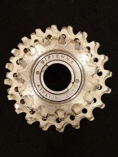 Vintage Gipiemme Chrono Special aluminium 5s freewheel.