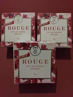 Rouge 8-in-1 All Natural Red Soap (3 pcs available)