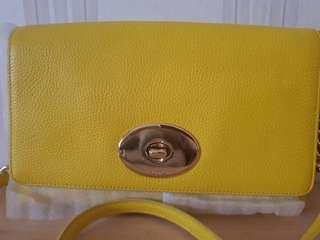 Yellow COACH SATCHEL LEATHER 2015 never worn