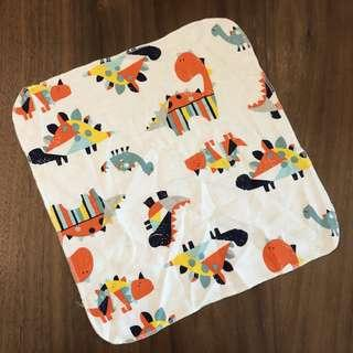 (Dino1) Baby handkerchief/ Baby wash cloth/ Baby drooling pad