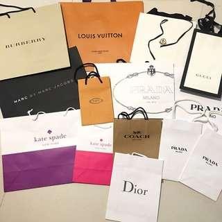 🆕名牌紙袋LV Burberry Gucci Marc jacobs Katespade moncler prada coach Dior tod's