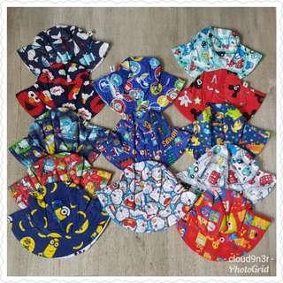 December Bundle Promotion - Girl/Boy Assorted Designs Reversible Sunhat