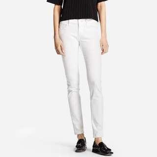 Uniqlo women putih ultra streach skinny jeans in white