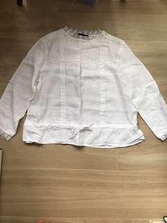 Zara white blouse 💚💚💚