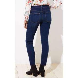 Celana Loft curvy soft skinny jeans in luxe dark wash