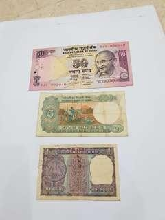 India vintage notes.