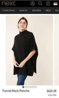 NEXT Black Poncho
