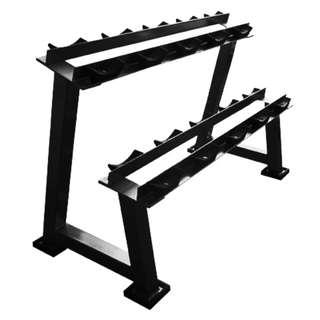 ZANFIT 2-tiers, 5-pairs Dumbbell Rack