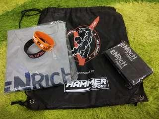 Enrich Fitness Shirt, Strap, Wrist Band and Bag