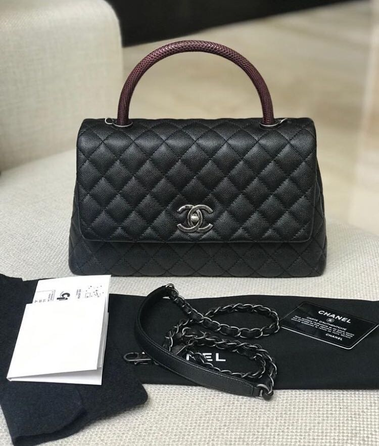 43c1a6f72fcf 2nd! Chanel coco handle med black rhw #23, Luxury, Bags & Wallets, Handbags  on Carousell