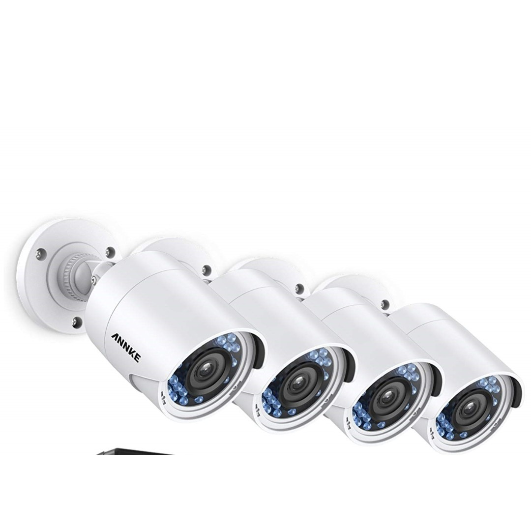 510 (Brand New) ANNKE New Upgraded 1080P Security System (4) 2 0MP 1920TVL  Weatherproof Cameras with Smart Search/Playback