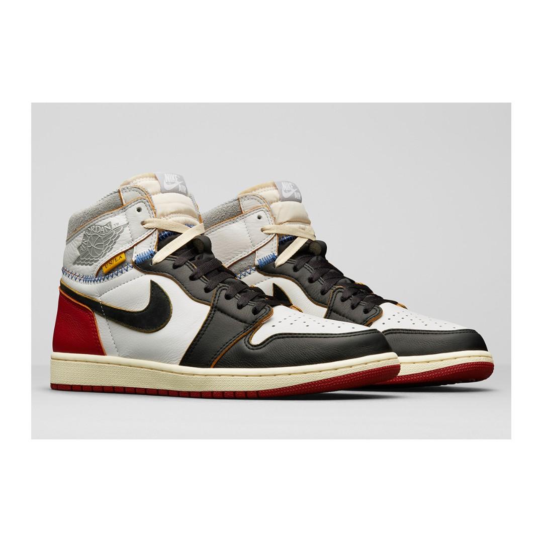 5be328c1253de4 🔥 In Stock🔥 US4.5 6.5 10 15 Nike Jordan 1 Union Black Red