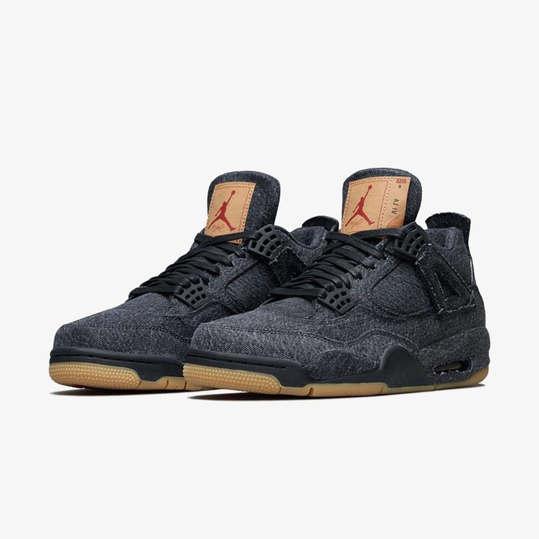 info for f5946 b8f2b 🔥 In Stock🔥 US11 11.5 Nike Jordan 4 Retro Levi Black, Men s ...