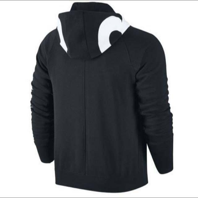 喬丹騎士 NIKE Air Jordan Accelerated Hoody 冠軍logo黑色拉鍊連帽外套 AJ 6 7 8 11 12 13 14帽夾