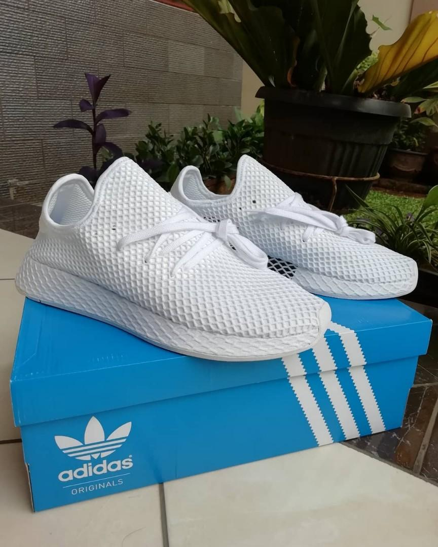 san francisco 533d6 564ec Adidas Deerupt Runner all white (NMD, Yezzy, ultra boost ...