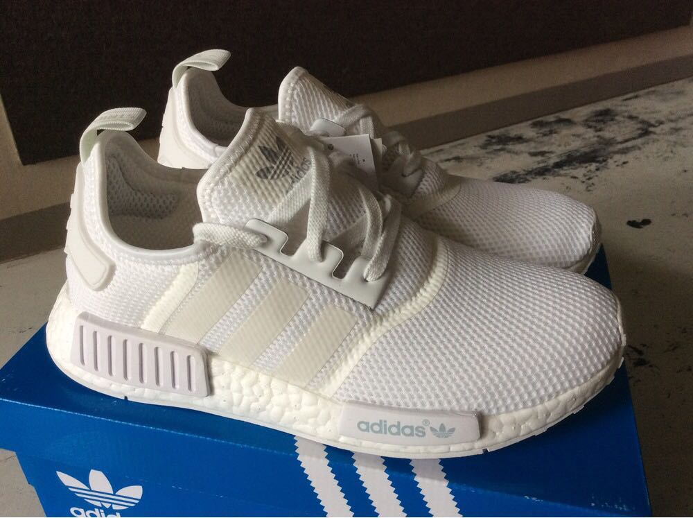 newest 7ff5a 4d8f5 Adidas NMD R1 triple white for sale, Men s Fashion, Footwear ...