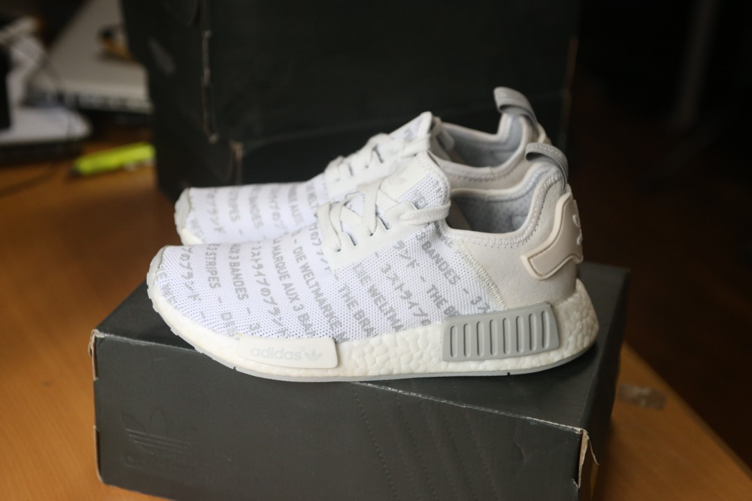 af136e7722906 adidas NMD R1 Whiteout Three 3 Stripes