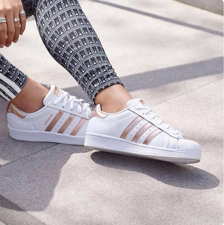 Adidas Superstar Rose Gold ✨🌈, Women's Fashion,