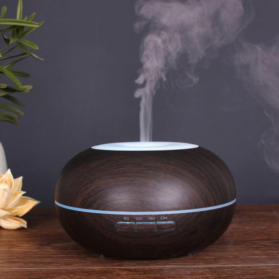 Aroma Diffuser Essential Oil with LED Light 300ml (Emerlia)