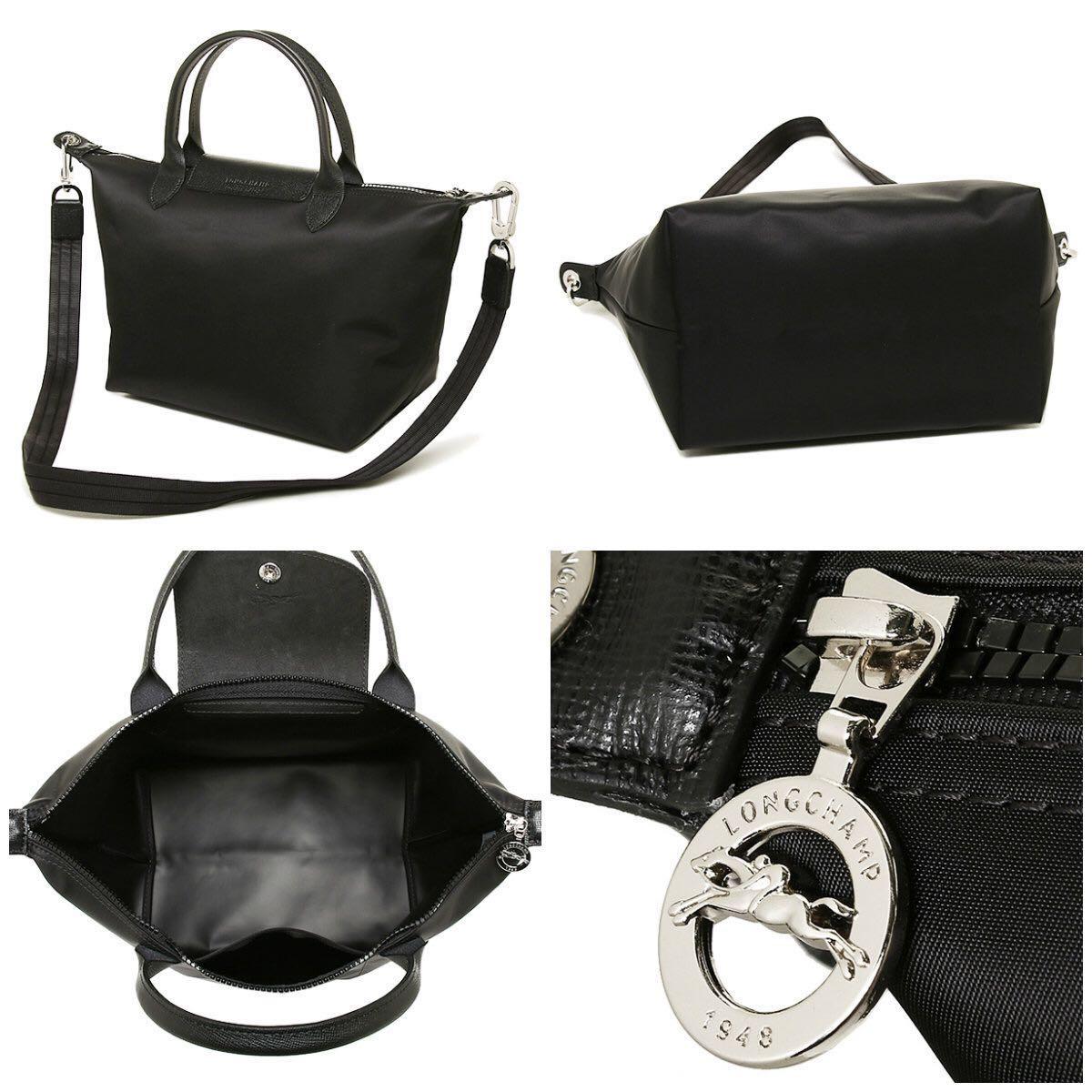 Authentic Black LongChamp Le Pliage Neo in Medium, Women s Fashion ... e8a702bfd5