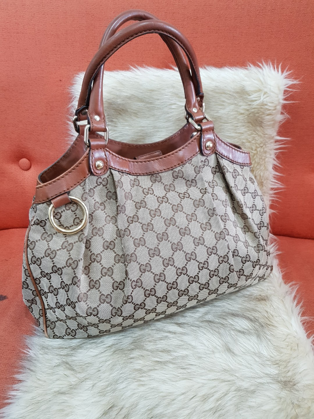 355c9791e05512 Authentic Gucci Large Sukey Tote Brown Bag, Luxury, Bags & Wallets ...
