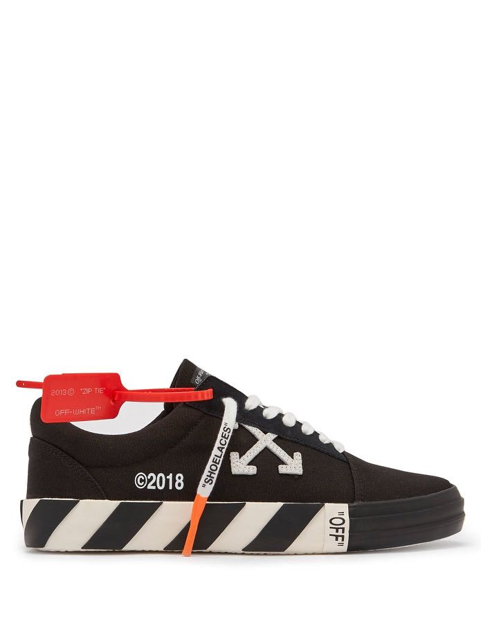 88bb1307a9a7 Authentic Off-White Vulc Canvas Low Top Sneakers Black
