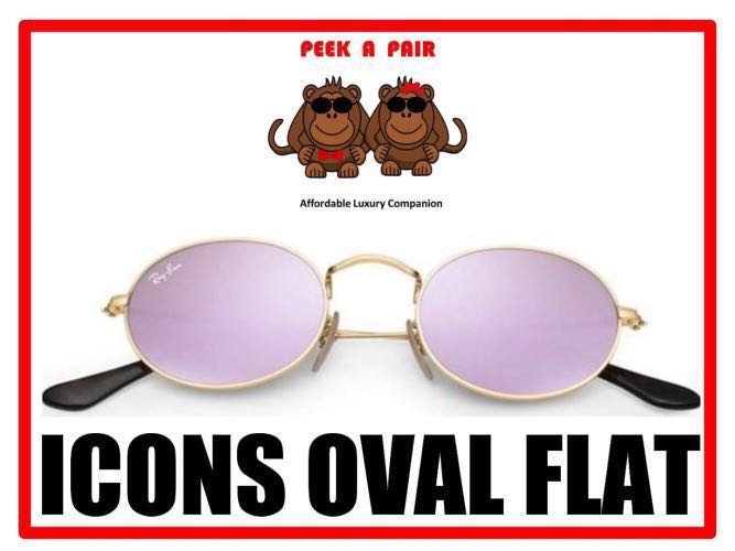 a5c193f7019 Authentic Ray Ban Icons Oval Flat Sunglasses  RB3547N