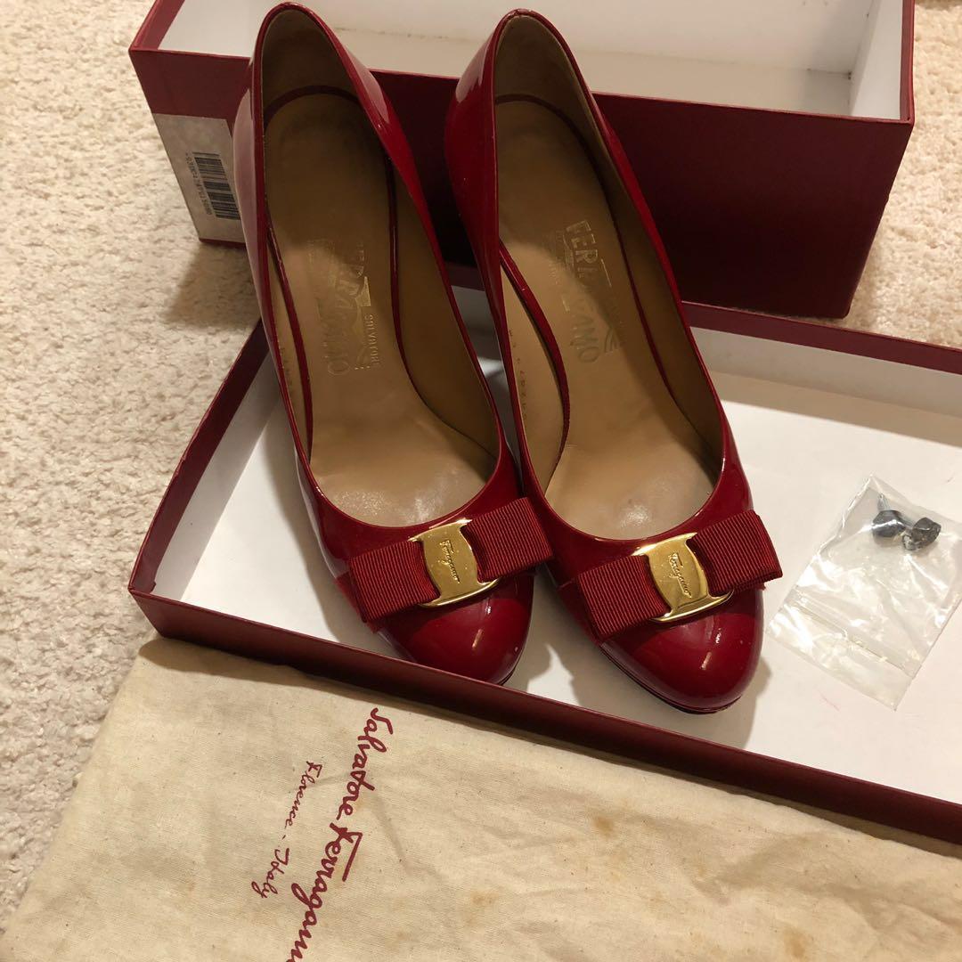 fdd8dc1230d8 Authentic Salvatore Ferragamo Red Heels