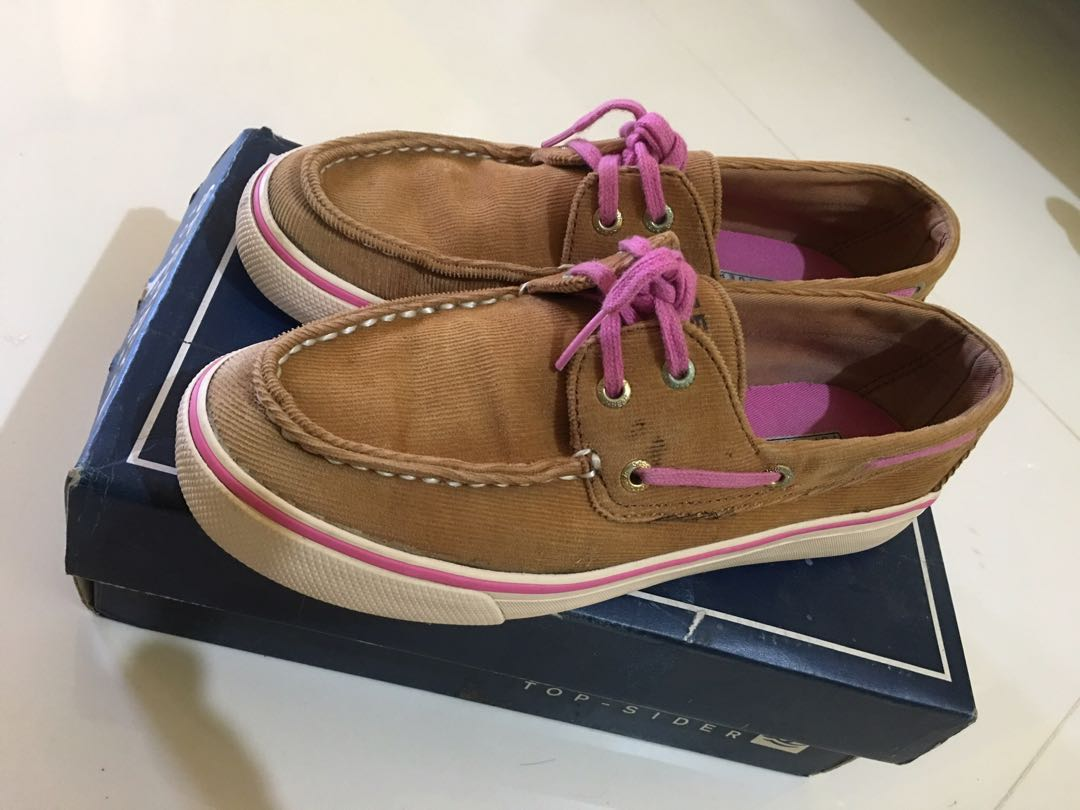 FREE SHIPPING  Authentic Women s Sperry Top-Sider (Brown and Pink ... f35a7e4b88