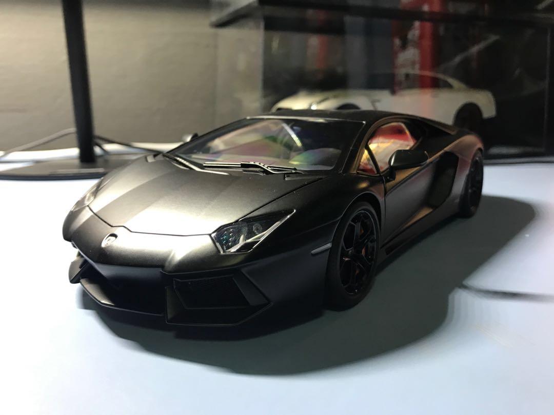 Autoart Lamborghini Aventador Lp700 4 Nero Nemesis Toys Games
