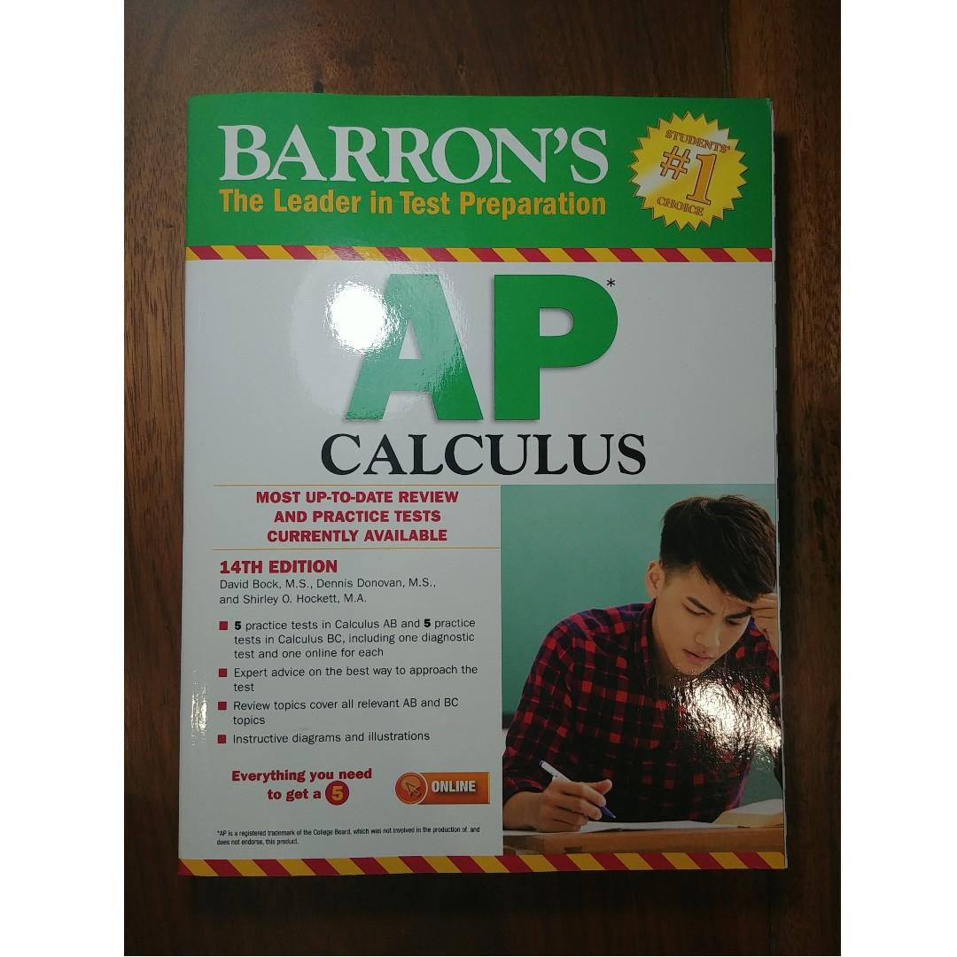 Barron S Ap Calculus 14th Edition Textbooks On Carousell