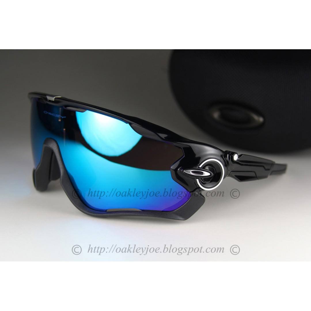 4fd9841531 BNIB Oakley Custom Jawbreaker black + sapphire iridium sunglass ...