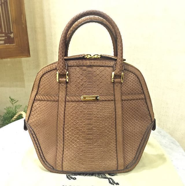 adb04a3286a3 Burberry Python Orchard Bag