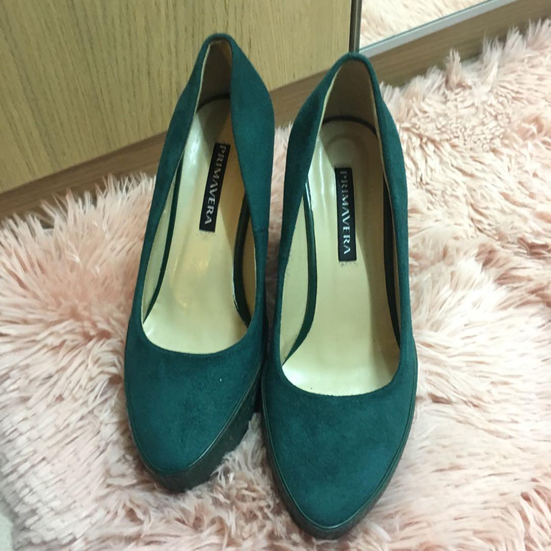 0c4f530c2ab Emerald green Wedges Pump on Carousell
