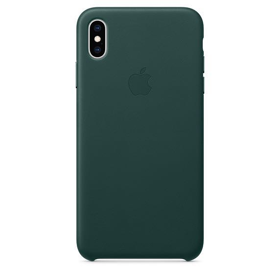 on sale be1d8 fd0f5 Forest Green Leather iPhone XS Max Case